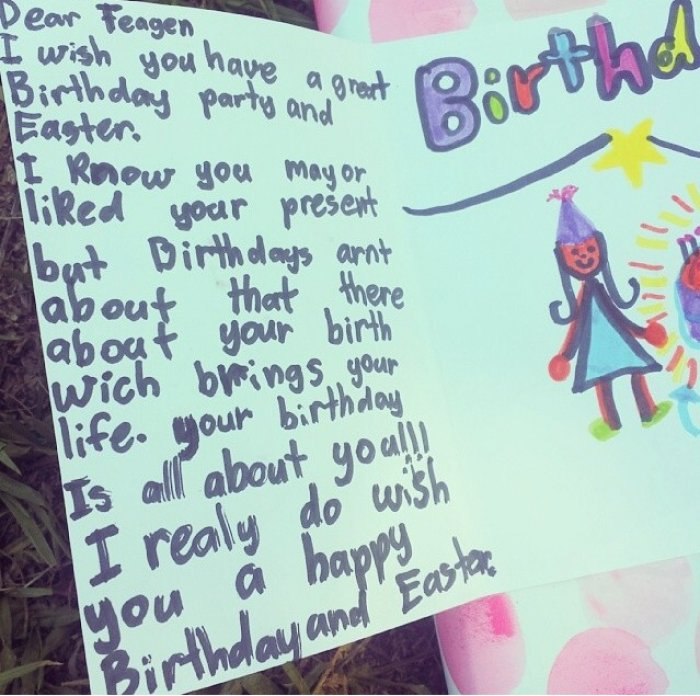 Hilarious Proof That Kids Write Better Birthday Cards Than