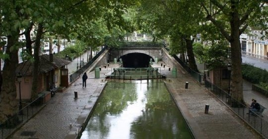 Normally, the canal is tranquil