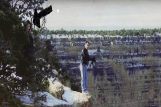 Mysterious Figures at the Grand Canyon