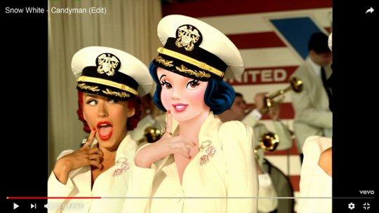 Snow White As Christina Aguilera in Candyman