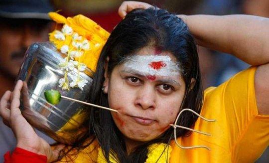 Hindu Thaipusam festival piercings.